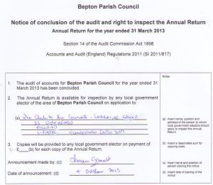 Your right to examine Bepton PC's Annual Return