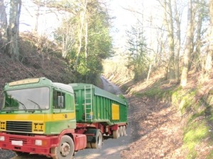 Mock Up of Lorry at Dunford Hollow