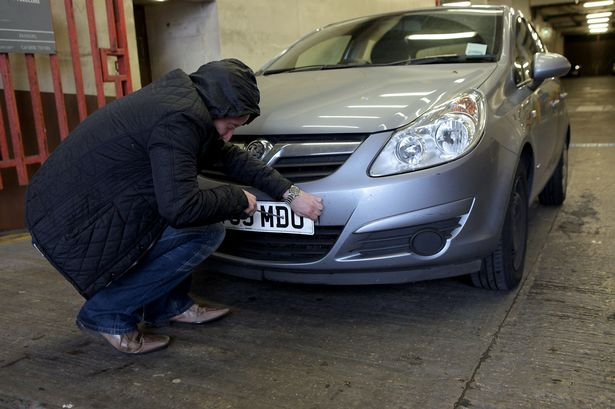 Number Plate Thefts